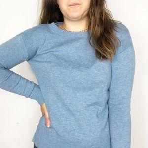 GAP | Dusty Blue Merino Wool Crew Neck Sweater XS